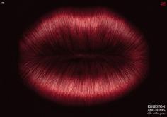 Nghệ Thuật Viết Quảng Cáo - thuốc nhuộm tóc màu đỏ hình đôi môi
