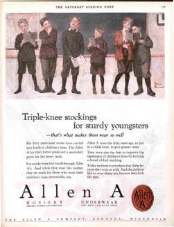 Mẩu quảng cáo Allen A của Norman Rockwell - Nghệ Thuật Viết Quảng Cáo