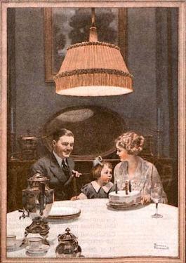Mẩu quảng cáo đèn điện Mazda của Edison - Norman Rockwell - Nghệ Thuật Viết Quảng Cáo