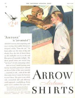Mẩu quảng cáo Arrow của Norman Rockwell - Nghệ Thuật Viết Quảng Cáo