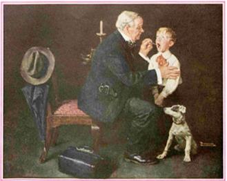 Mẩu quảng cáo Listerine của Norman Rockwell - Nghệ Thuật Viết Quảng Cáo