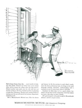 Mẩu quảng cáo Mass Mutual của Norman Rockwell - Nghệ Thuật Viết Quảng Cáo