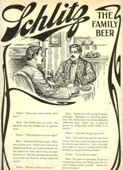 Quảng cáo bia Schlitz - sưu tầm bởi Nghệ Thuật Viết Quảng Cáo