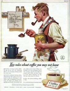 Mẩu quảng cáo cà-phê của họa sĩ Norman Rockwell