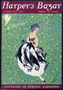 Ảnh bìa tạp chí Harper's Bazar số tháng 02/1922 được khai triển theo phong cách Art Deco bởi họa sĩ Erté -- blog Nghệ Thuật Viết Quảng Cáo -- ThS. Phan Nguyễn Khánh Đan