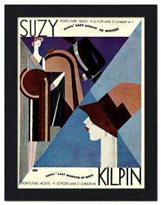 Một mẩu quảng cáo cửa hàng thời trang Suzy Kilpin vào những năm 1920, Art Deco, blog Nghệ Thuật Viết Quảng Cáo, ThS. Phan Nguyễn Khánh Đan