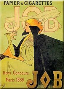 Một mẩu quảng cáo theo phong cách Art Deco của Công ty sản xuất giấy gói thuốc lá Joseph Bardou (JOB), năm 1889 -- blog Nghệ Thuật Viết Quảng Cáo -- ThS. Phan Nguyễn Khánh Đan