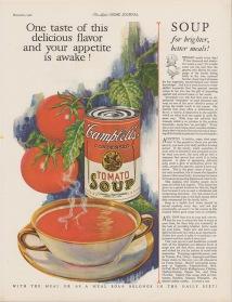 Một mẩu quảng cáo súp Campbell's năm 1926 -- sưu tầm bởi ThS. Phan Nguyễn Khánh Đan -- blog Nghệ Thuật Viết Quảng Cáo