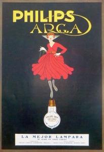 Quảng cáo đèn Philips Arga theo phong cách Art Deco, năm 1919 -- blog Nghệ Thuật Viết Quảng Cáo -- ThS. Phan Nguyễn Khánh Đan