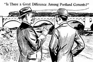 Quảng cáo xi-măng Portland của Alpha - nhà quảng cáo S. Roland Hall - Nghệ Thuật Viết Quảng cáo sưu tầm